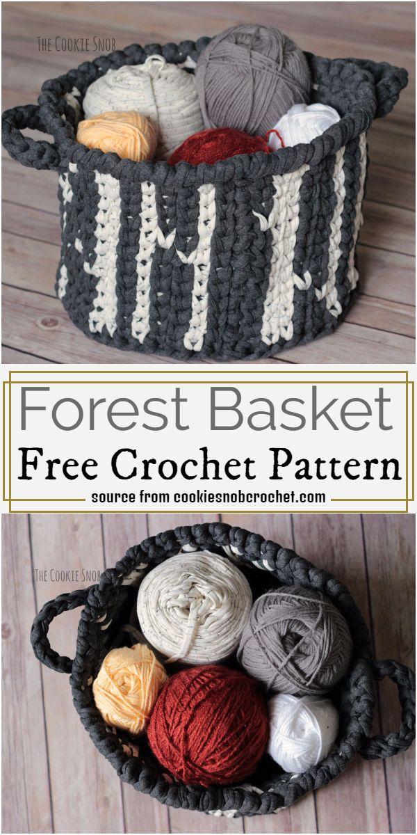 Forest Basket Crochet Pattern
