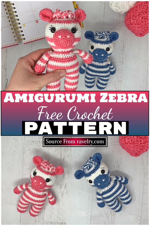 Free Crochet Amigurumi Zebra 1