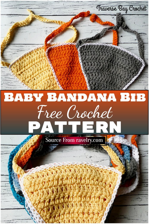 Free Crochet Baby Bandana Bib Pattern