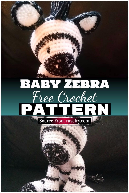 Free Crochet Baby Zebra 1