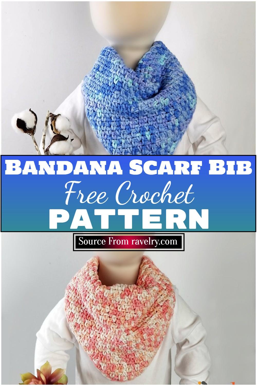 Free Crochet Bandana Scarf Bib Pattern