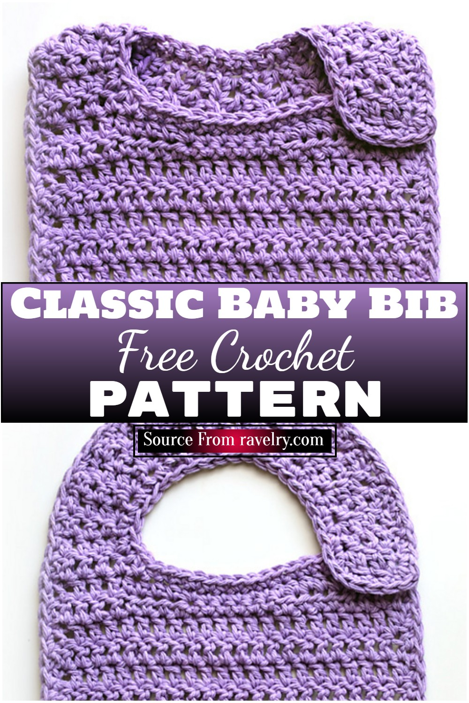 Free Crochet Classic Baby Bib Pattern