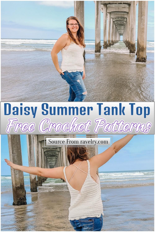 Free Crochet Daisy Summer Tank Top Pattern