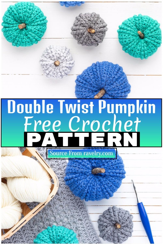 Free Crochet Double Twist Pumpkin 1