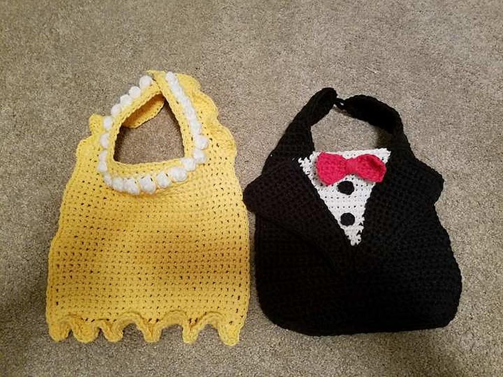 Free Crochet Formal Baby Drool Bibs Pattern