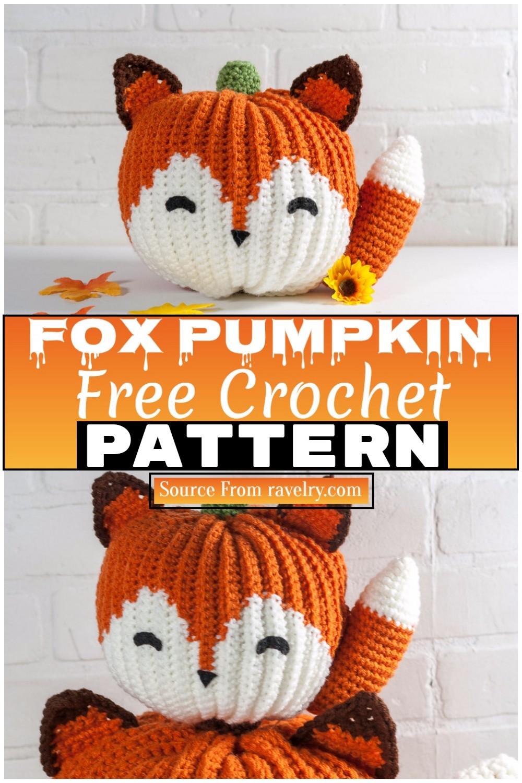 Free Crochet Fox Pumpkin 1