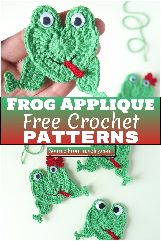 Free Crochet Frog Applique