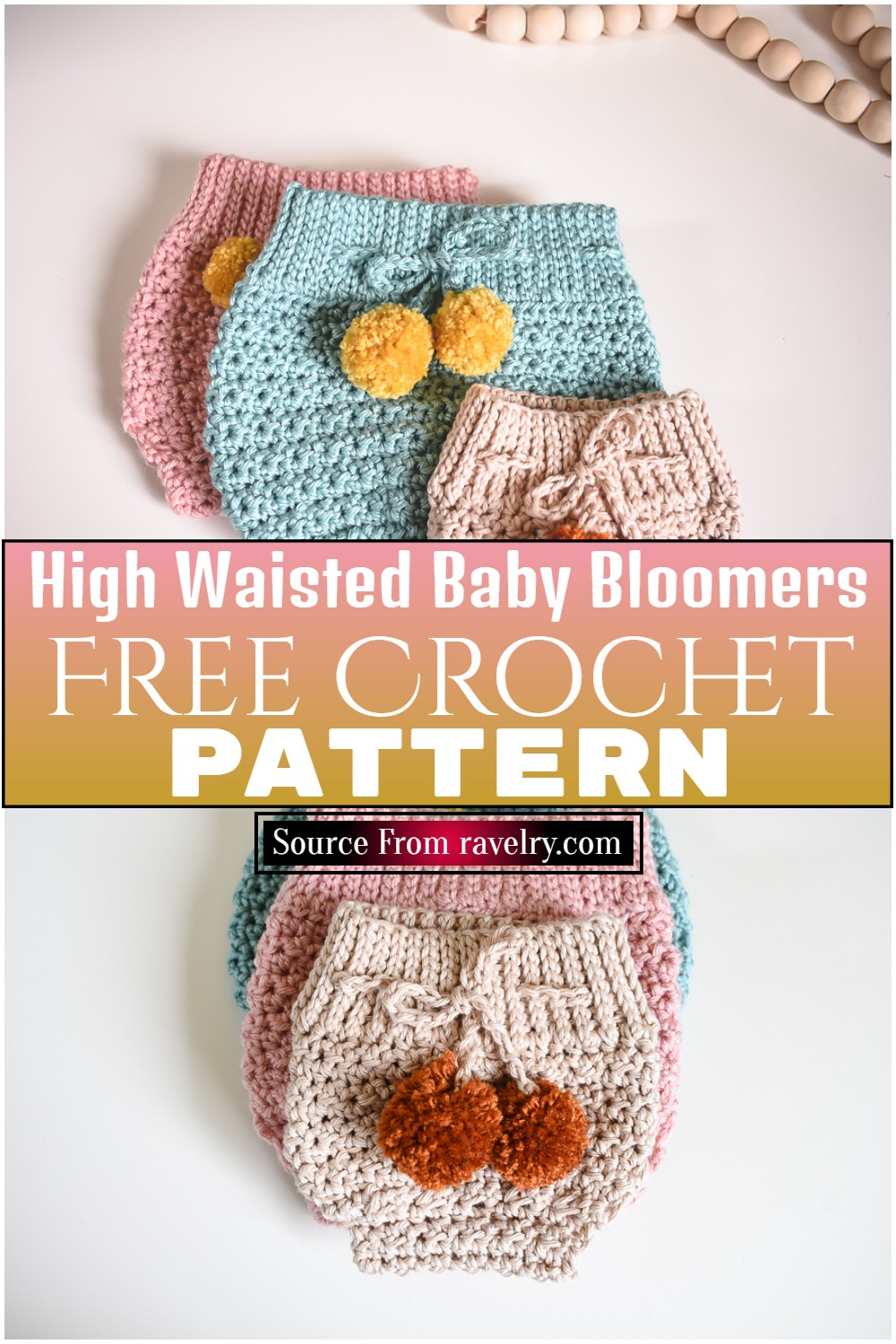 Free Crochet High Waisted Baby Bloomers Pattern