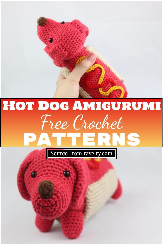 Free Crochet Hot Dog Amigurumi