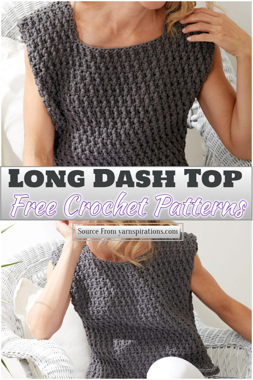 Free Crochet Long Dash Top Pattern