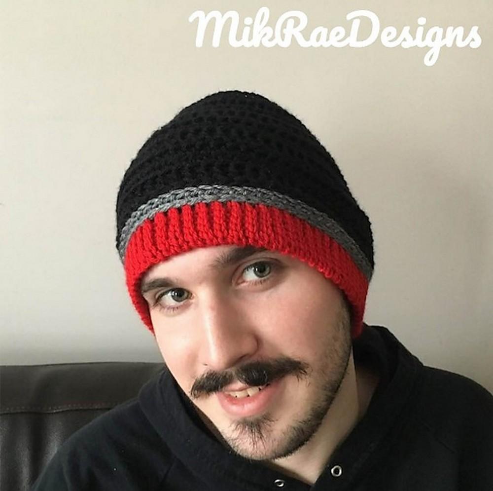 Free Crochet Men's Comfort Hat