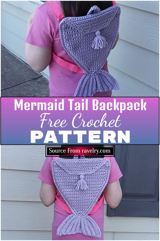 Free Crochet Mermaid Tail Backpack Pattern