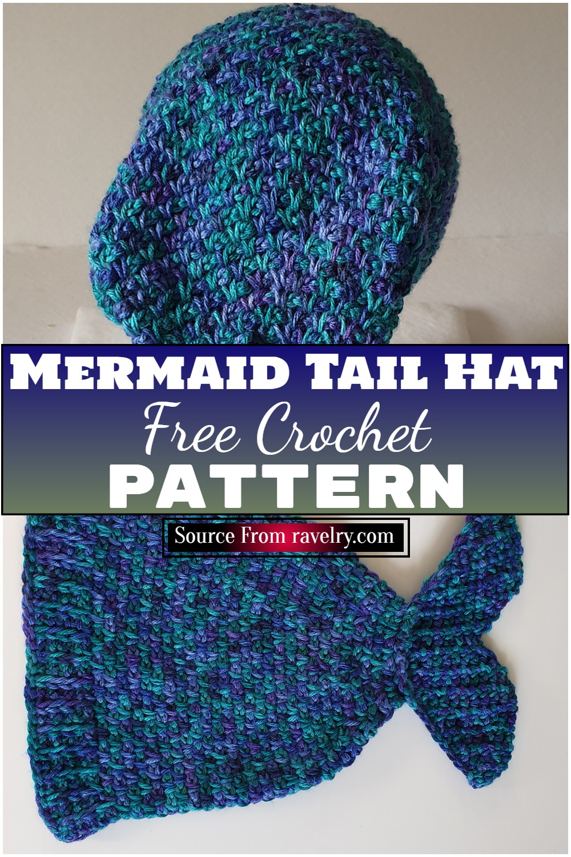 Free Crochet Mermaid Tail Hat Pattern
