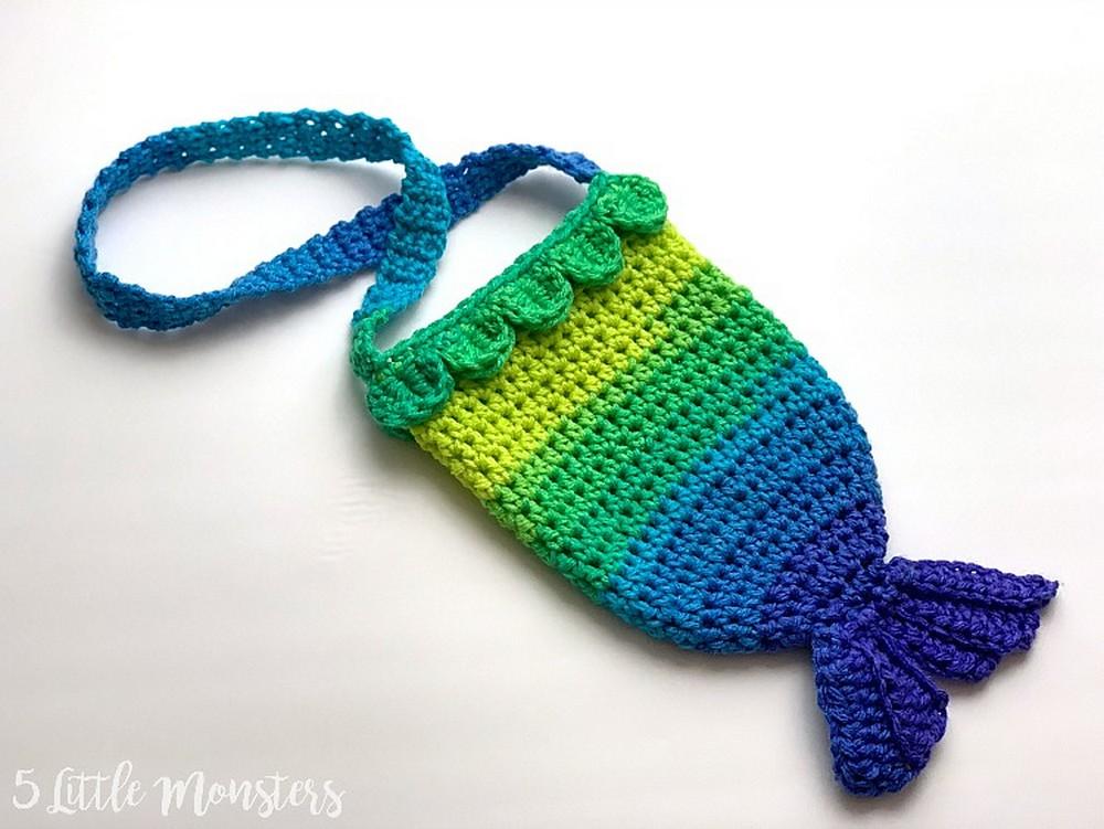 Free Crochet Mermaid Tail Purse Pattern