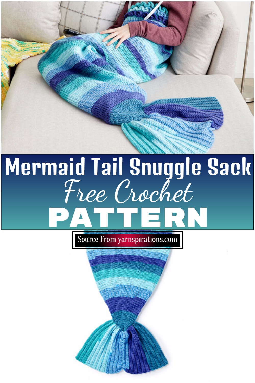 Free Crochet Mermaid Tail Snuggle Sack Pattern