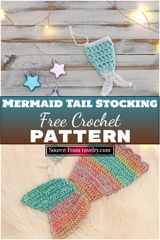 Free Crochet Mermaid Tail Stocking Pattern