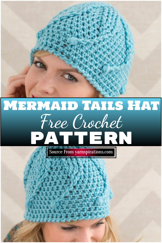 Free Crochet Mermaid Tails Hat Pattern