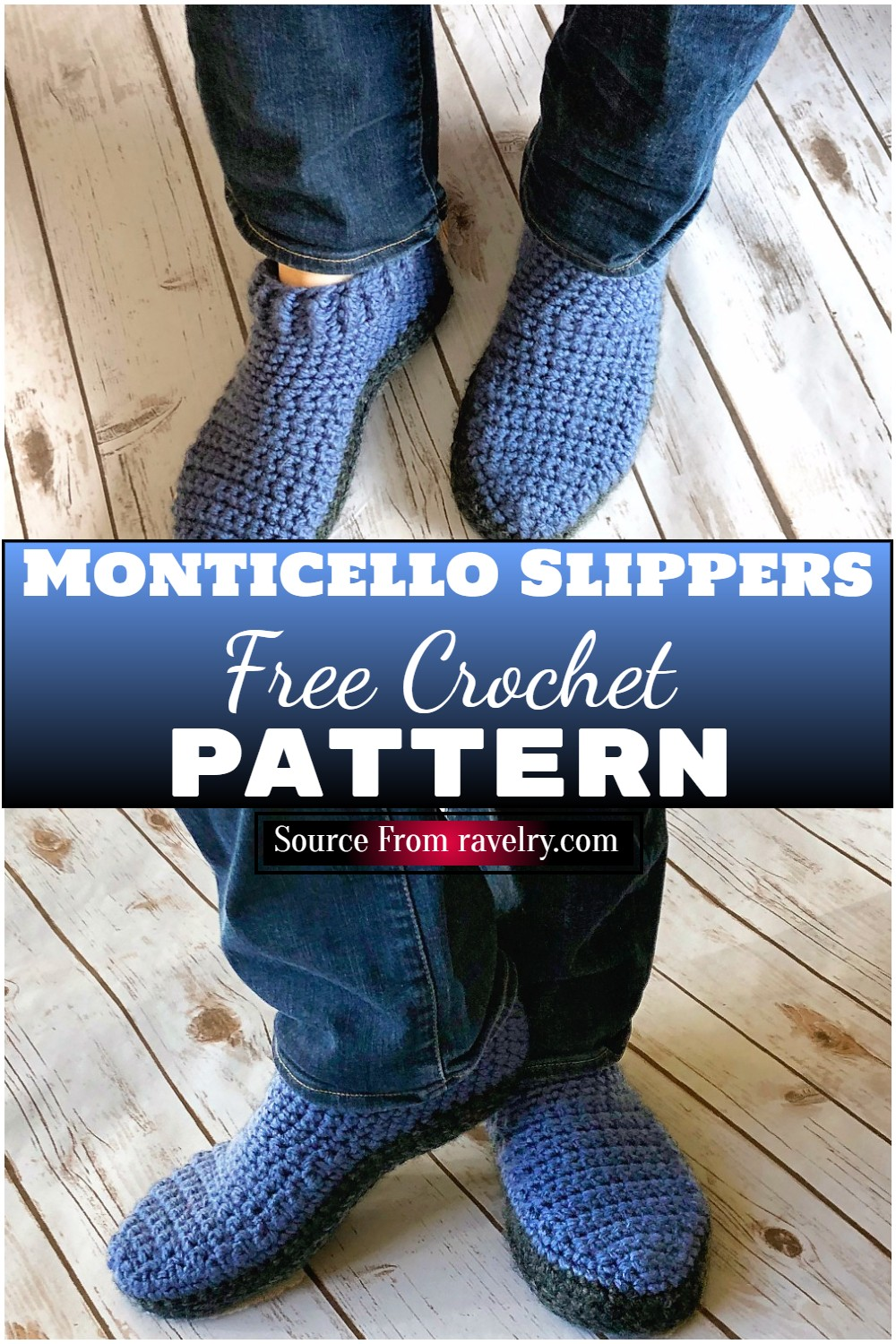 Free Crochet Monticello Slippers Pattern