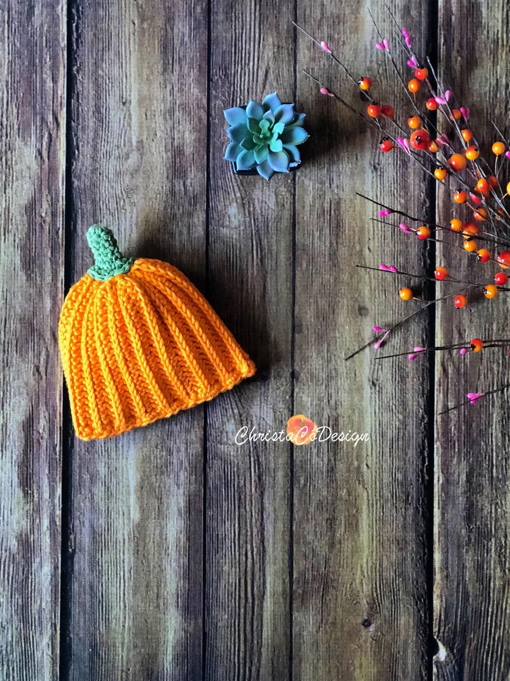 Free Crochet Pumpkin Hat