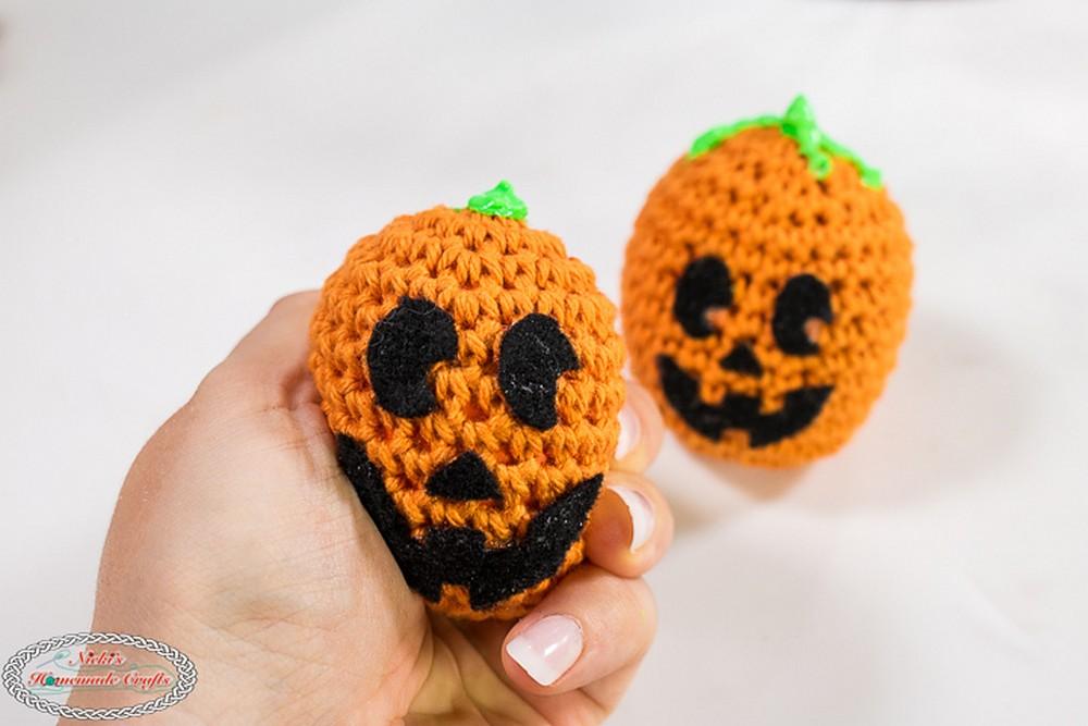Free Crochet Pumpkin Stress Ball Pattern