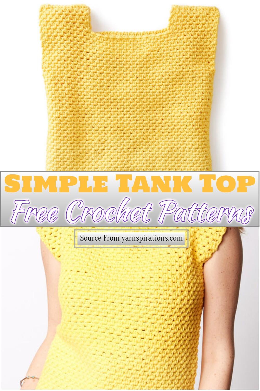 Free Crochet Simple Tank Top Pattern
