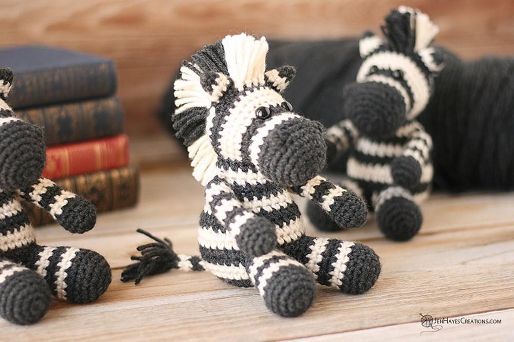Free Crochet Small Animal Collection Zebra