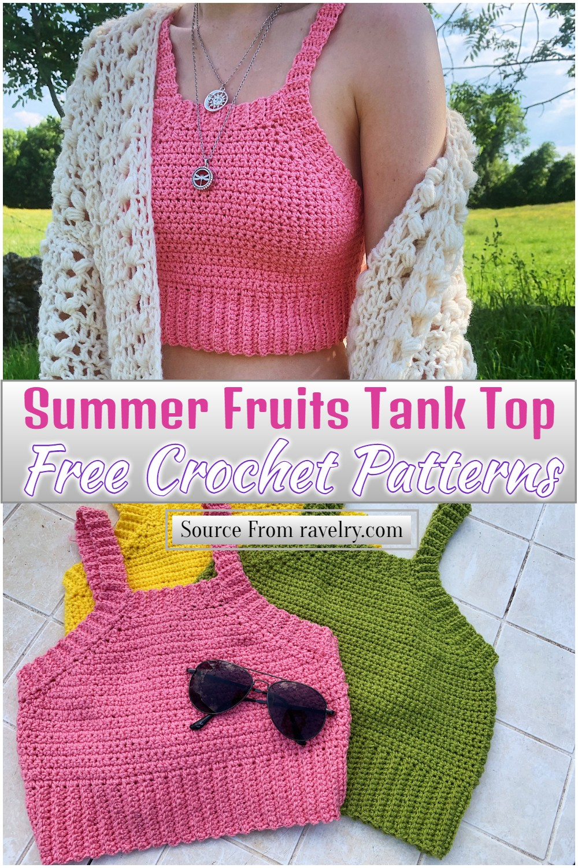 Free Crochet Summer Fruits Tank Top Pattern