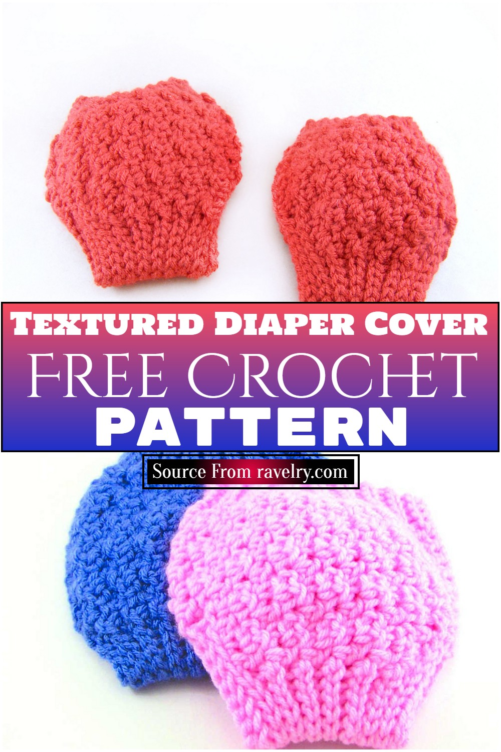 Free Crochet Textured Diaper Cover Pattern
