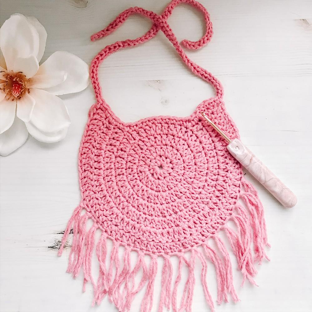 Free Crochet The Dreamcatcher Bib Pattern
