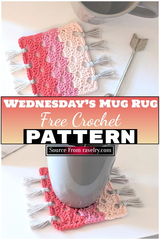 Free Crochet Wednesday's Mug Rug 1
