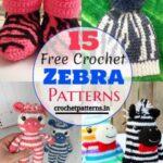 15 Cute Free Crochet Zebra Patterns For Children's