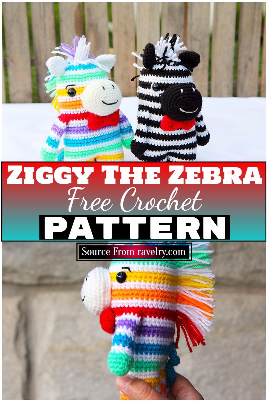 Free Crochet Ziggy The Zebra 1