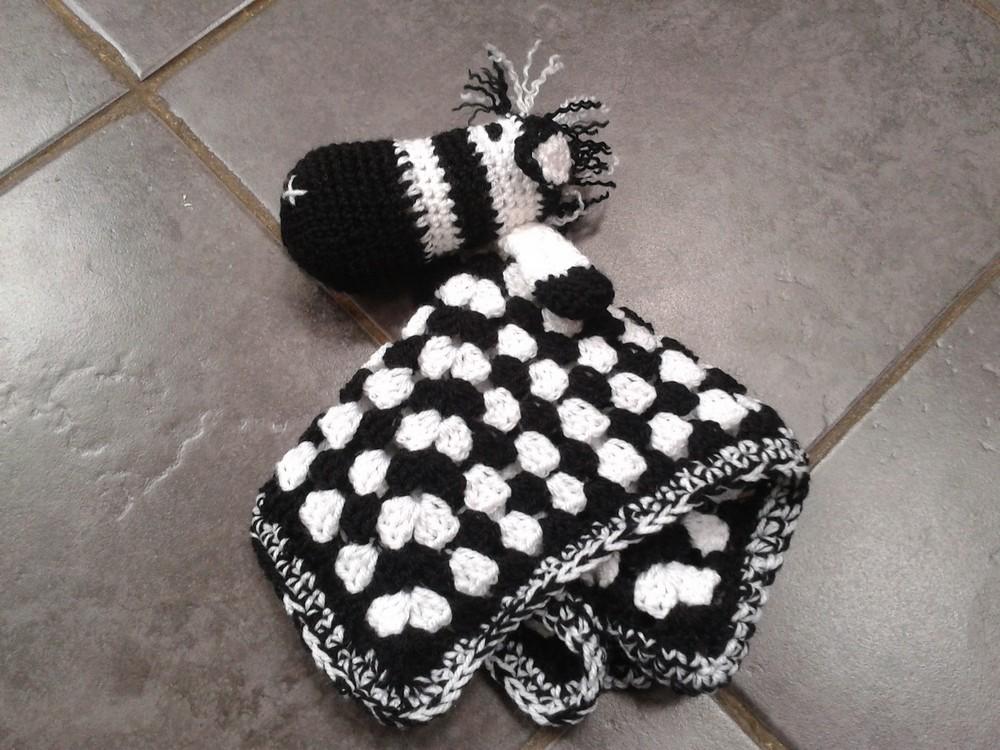 Free Crochet Ziggy The Zebra Lovey