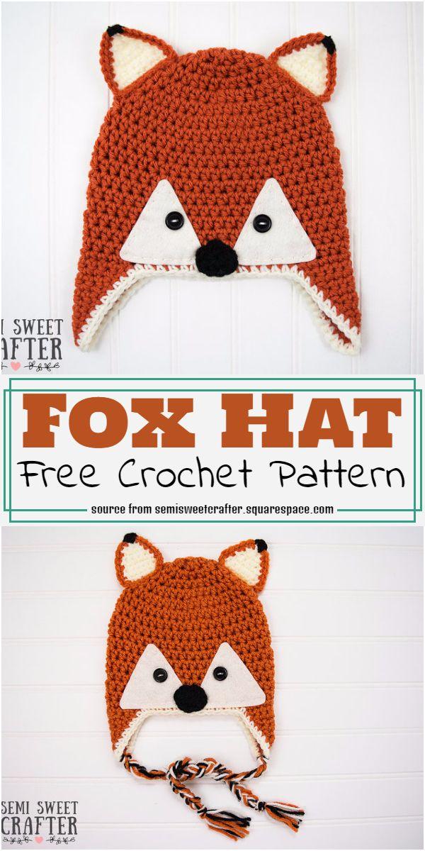Free Fox Hat Crochet Pattern