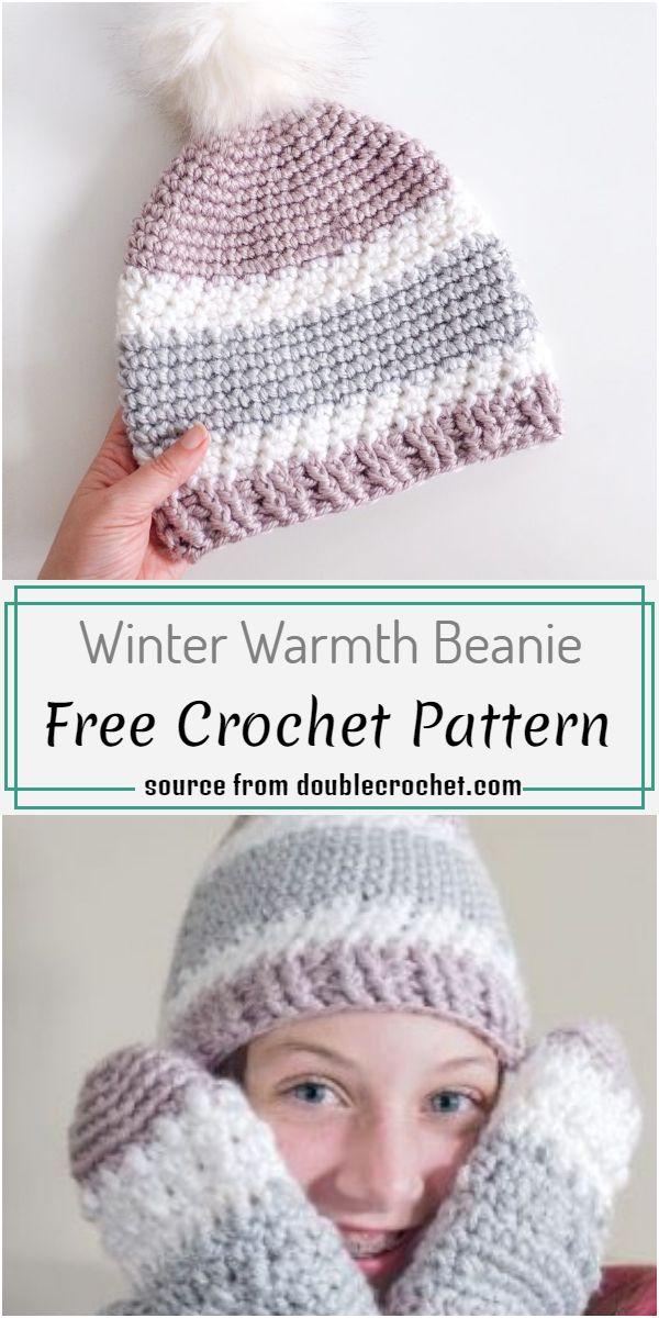 Free Winter Warmth Beanie Crochet Pattern