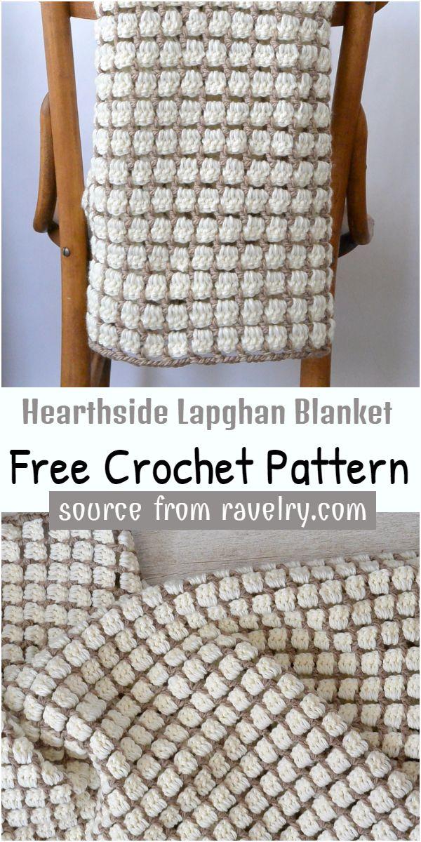 Hearthside Lapghan Blanket Crochet Pattern