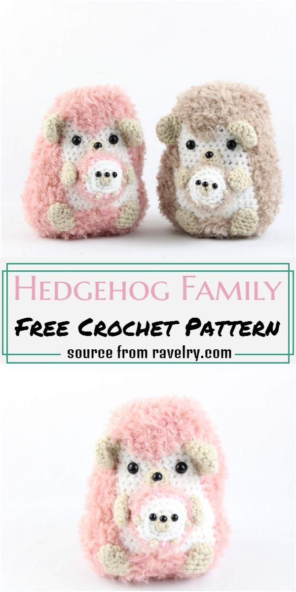 Hedgehog Family Crochet Pattern
