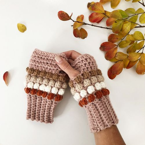 Horizon Fingerless Gloves Crochet Pattern