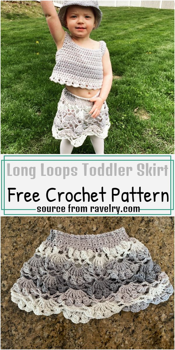 Long Loops Toddler Skirt Crochet Pattern