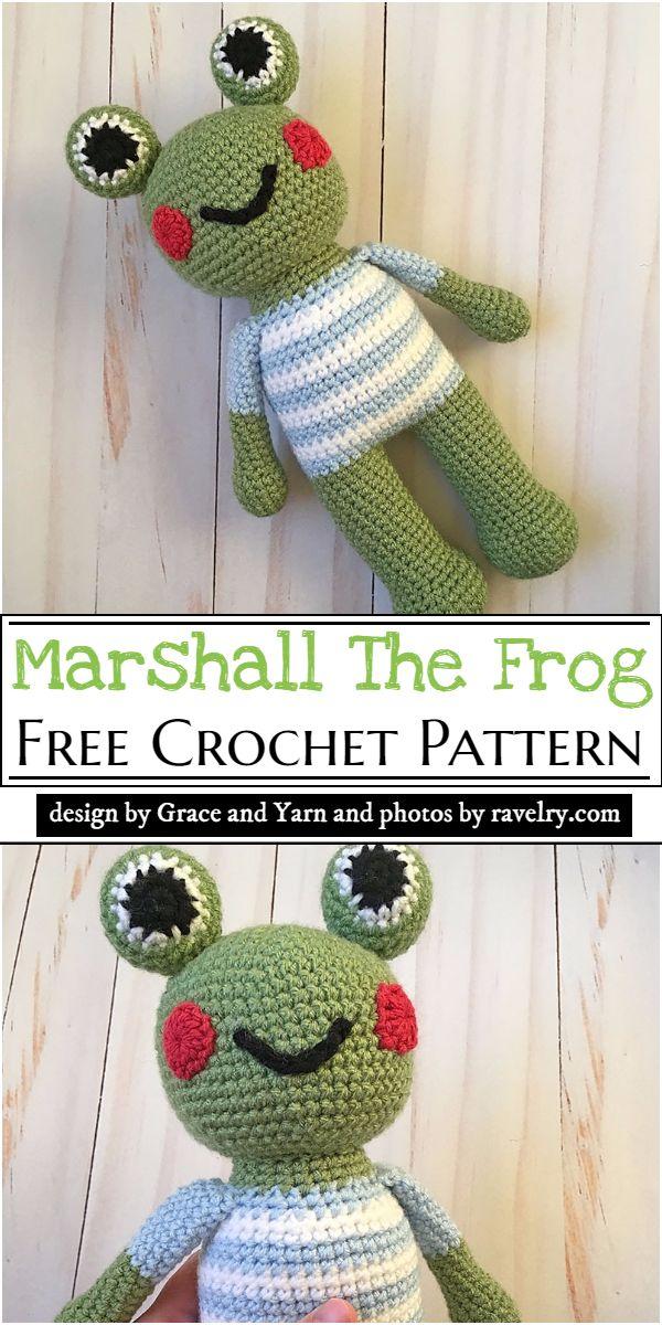 Marshall The Frog Crochet Pattern
