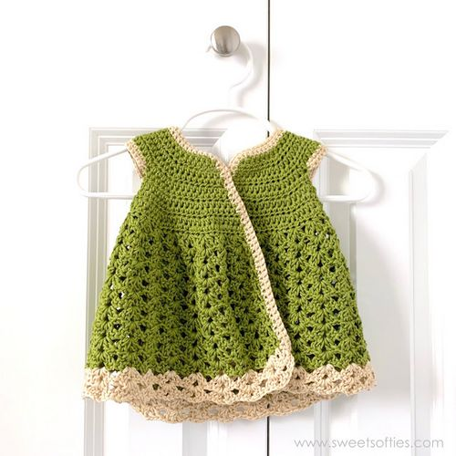 Meadow Cardigan Dress Crochet Pattern