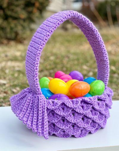 Mermaid Easter Basket Crochet Pattern