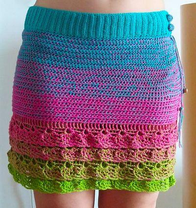 Minirock Malibu Skirt Crochet Pattern