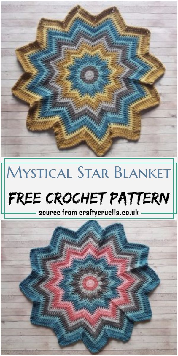 Mystical Star Blanket Crochet Pattern