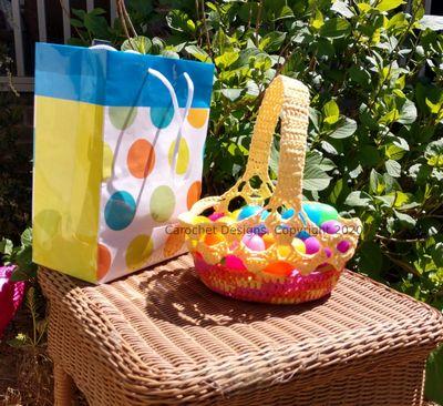 Pandemic Easter Basket Crochet Pattern