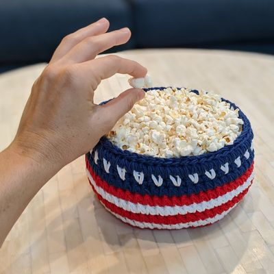 Patriotic Basket Crochet Pattern