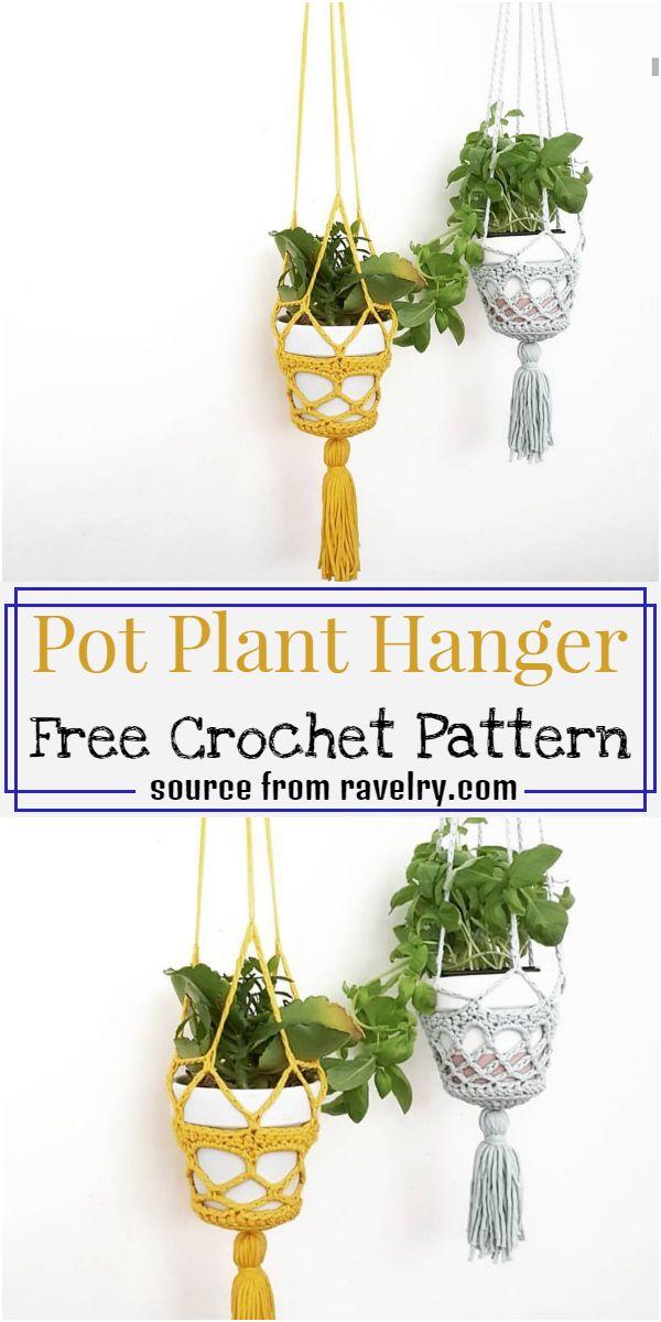 Pot Plant Hanger Crochet Pattern