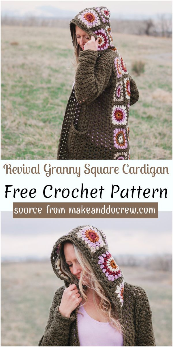 Revival Granny Square Cardigan Crochet Pattern
