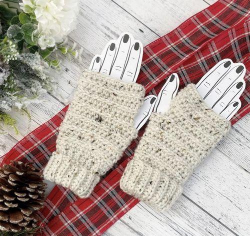 Ribbed Fingerless Gloves Crochet Pattern