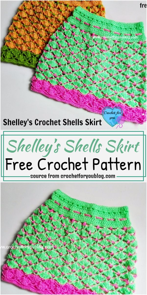Shelley's Shells Skirt Crochet Pattern